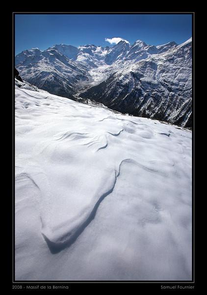 Massif de la Bernina depuis le Val Languard - Grisons - Octobre 2008