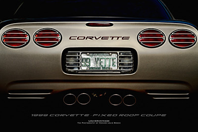 1999 Corvette Fixed Roof Coupe - 24x36 Poster Print