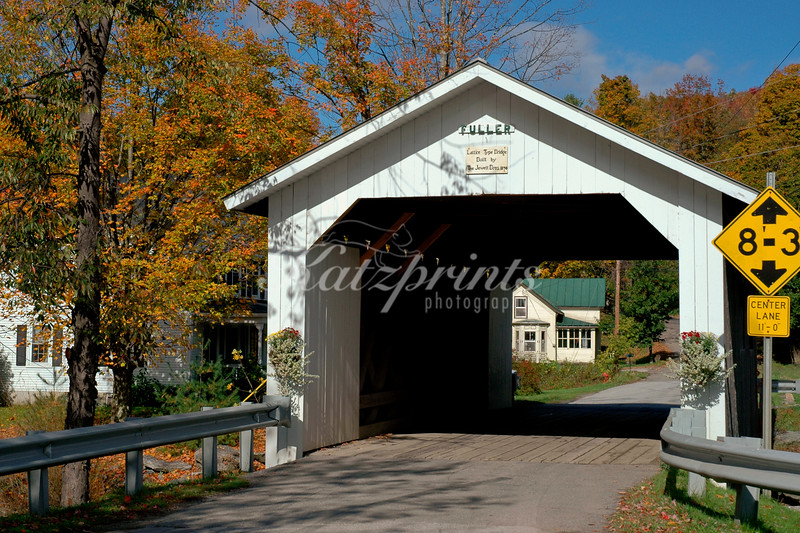 Fuller covered bridge (built 1890) in Montgomery,Vermont