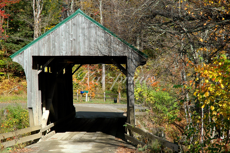 Small covered bridge near Montgomery, vermont