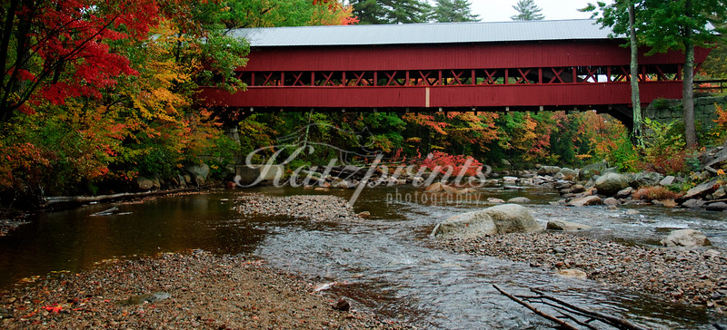 Autumnat the Swift river covered bridge (1869) in New Hampshire