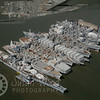 USS Iowa in the Suisun Bay Mothball Fleet - Aerial Photograph