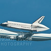 Space Shuttle Endeavor over Treasure Island