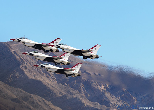 US Air Force Thunderbirds Over Las Vegas