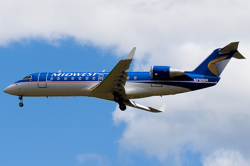 The Midwest flights were upgraded from Dorniers to these CRJ-200s.