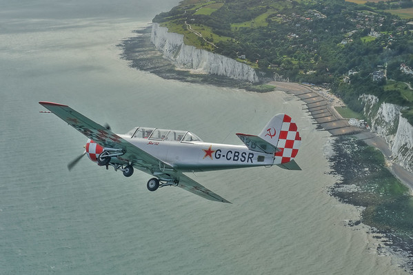 Air to Air with YAK52 above the English Channel