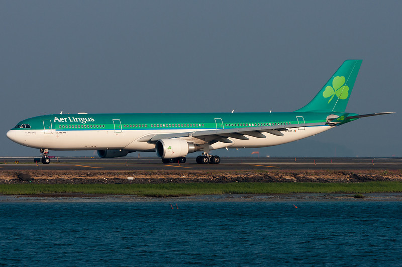 Aer Lingus' Saint Munchin readying for departure to Dublin.