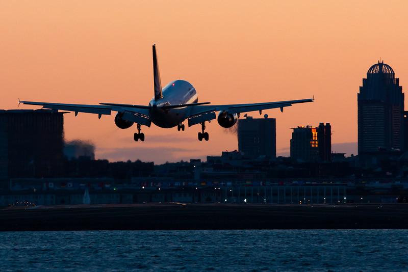A SATA A310 about to do a bit of a crosswind landing on runway 27.