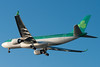 Aer Lingus' St. Columba, EI-DUO, on final for runway 27 at BOS.