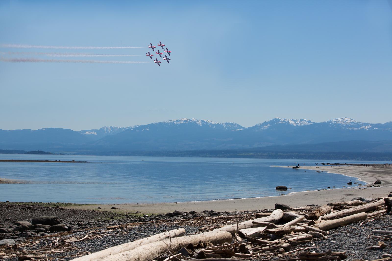 CF Snowbirds over Kye Bay in Comox, BC