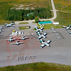 Fleet picture I took for NAO - Convair 580's, Turbo Commander's, Trackers, barons and Cl-215's.