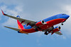 A Southwest 737 on final for runway 24 at Bradley.