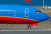 A Close-up view of the forward section of a Southwest 737.