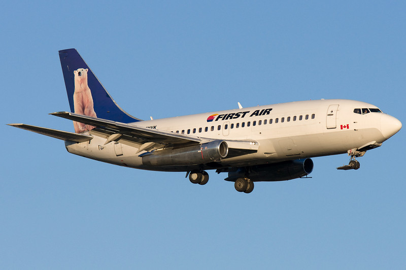 First Air 737-200 on final for 24R at Montreal.