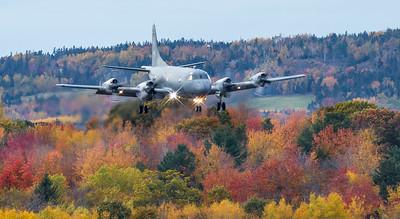 RCAF CP-140 Aurora landing at CFB Greenwood