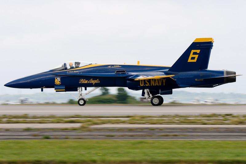 Blue Angel 6 landing.