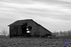 """Old Derelict in B&W""<br /> <br /> This gallant old barn is no more. It was torn down sometime this summer.<br /> <br /> POTD - Black&White Category - 11/27/2006 -  <a href=""http://www.digitalphotonut.com"">http://www.digitalphotonut.com</a>"