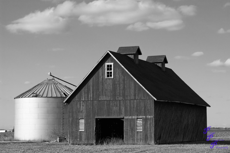 """Black and White Barn""<br /> <br /> A B&W version of ""Little Red Barn with Silo"".<br /> <br /> POTD - Black&White Category - 3/14/2006 -  <a href=""http://www.digitalphotonut.com"">http://www.digitalphotonut.com</a> / <br /> Appetizer POTD - Black&White Category - 11/14/2006 -  <a href=""http://www.digitalimagecafe.com"">http://www.digitalimagecafe.com</a>"