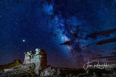 Bisti Night Sky