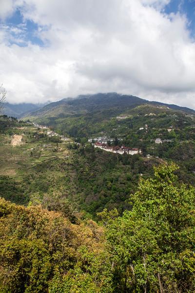 VIEW AT TRONGSA. CENTRAL BHUTAN. [2]