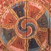 TRONGSA DZONG. RICH DECORATED DOOR WITH THE DHARMA WHEEL (WHEEL OF LIFE). [4]