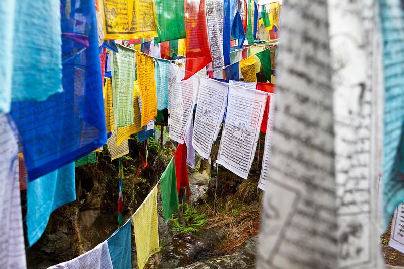 BURNING LAKE. RELIGIOUS SITE. JAKAR. BUMTHANG VALLEY. BHUTAN.