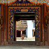 GANGTEY GOEMBA MONASTERY. ENTRANCE GATE [2]. PHOBJIKHA VALLEY. CENTRAL BHUTAN.