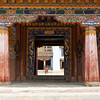 GANGTEY GOEMBA MONASTERY. ENTRANCE GATE. PHOBJIKHA VALLEY. CENTRAL BHUTAN.