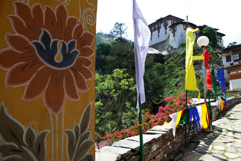 LUENTSHE DZONG. BHUTAN.