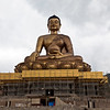 GIANT BUDDHA STATUE ABOVE TIMPHU THE CAPITAL OF BHUTAN.