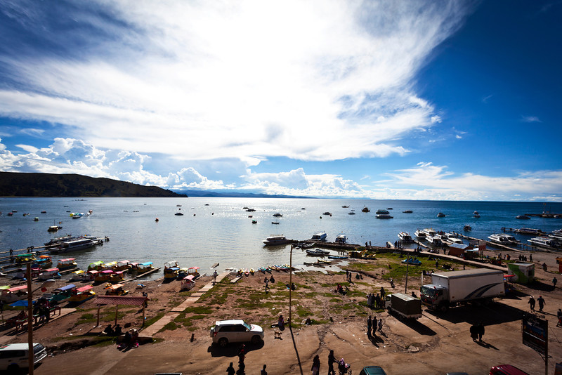 COPACABANA. BEACH. LAKE TITICACA. BOLIVIA.