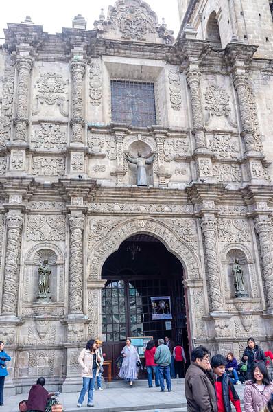 LA PAZ. BOLIVIA. SAN FRANCISCO CHURCH.