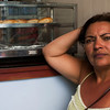 PENEDO. ALAGOAS. PORTRAIT OF A BRAZILIAN LADY IN A LUNCH ROOM.