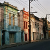 EARLY MORNING. COLONIAL HOUSES. SANTOS. SAO PAULO.