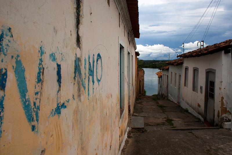 PENEDO. ALAGOAS. COLONIAL STREETS AND SAO FRANSICO RIVER.