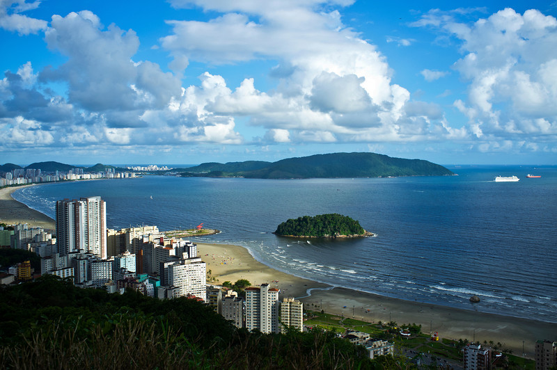 SANTOS. VIEW OF THE BAY.