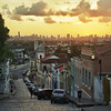 SUNSET IN OLINDA. VIEW OF RECIFE.