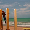 DOING EXERCISE AT THE BEACH. MACEIO. ALAGOAS.