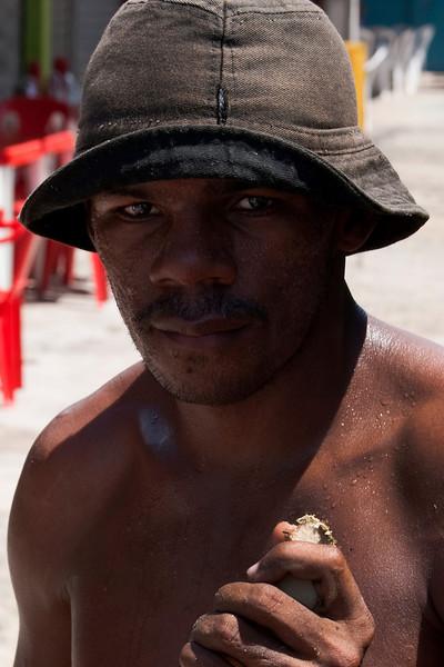 PORTRAIT OF THE SUGAR CAIN MAN. MARKET. MACEIO. ALAGOAS. BRASIL.