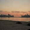 SUNRISE AT THE BEACH OF SAO VICENTE. SAO PAULO.