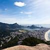 RIO DE JANEIRO. VIEW AT RIO DE JANEIRO FROM THE DOIS IRMAOS MOUNTAIN.