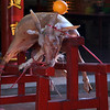 GOAT OFFERING. CHINESE TEMPLE. BANDAR SERI SEGAWAN.