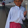 BRUNEI BOY. JAME'ASR HASSANAL BOLKIAH MOSQUE (THE LARGEST MOSQUE OF BRUNEI). BANDAR SERI BEGAWAN.