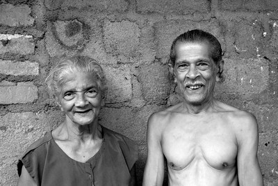 Old couple in Sri Lanka