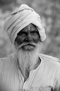 Portrait of an old man near Nagpur, India.