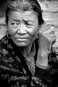 Nepali lady in Kathmandu, Nepla