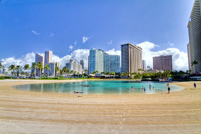 Lagoon, Hilton Hawaiian Village