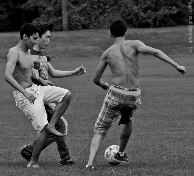 Penn State Kazakh Student Community Soccer, August 2011, State College, PA