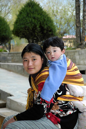 Mother & child in Thimphu, Bhutan.