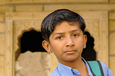 This boy wants to be a hero in Bollywood and from the looks of it he has it in him. Cheerful, bubbly and full of fun. Rajasthan, India